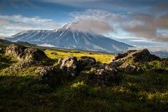 Vulcano di Tolbachik, Kamchatka immagini stock libere da diritti