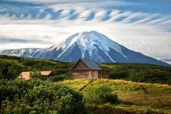 Vulcano di Tolbachik, Kamchatka fotografia stock libera da diritti