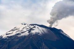 Vulcano di Tungurahua, Ecuador fotografia stock