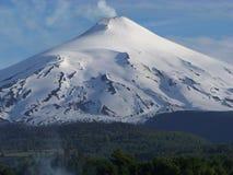 Vulcano di Villarica fotografia stock libera da diritti