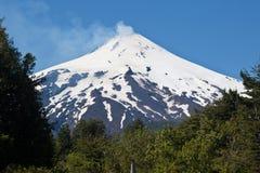 Vulcano di Villarica nel Cile Fotografia Stock Libera da Diritti