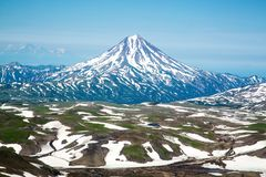Vulcano di Vilyuchinsky, Kamchatka immagini stock libere da diritti