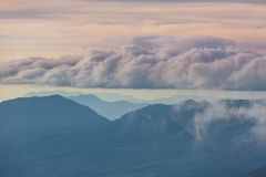 vulcano in El Salvador Fotografia Stock