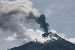 Vulcano eruption in ecuador Stock Photography
