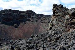 Vulcano estinto nel parco nazionale Pali Aike nel sud del Cile immagine stock libera da diritti