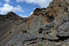 Vulcano estinto nel parco nazionale Pali Aike nel sud del Cile fotografie stock libere da diritti