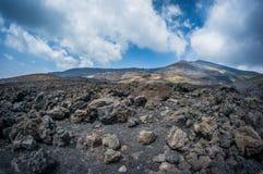 Vulcano Etna Fotografia Stock Libera da Diritti