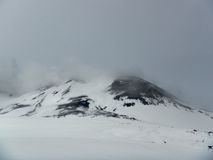 Vulcano Etna della neve Fotografie Stock Libere da Diritti
