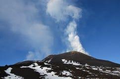 Vulcano Etna - la Sicilia Immagini Stock Libere da Diritti