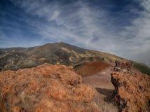 Vulcano Etna. The vulcano Etna in Sicily Stock Photo