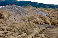 vulcano för closeupmudsikt Arkivfoto
