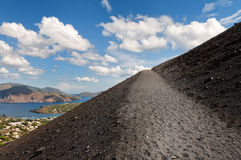 Vulcano island. Island Vulcano - It's the greatest of eolie islands in southern italy Stock Photos