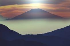 Vulcano in Java immagine stock libera da diritti