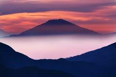 Vulcano in Java immagini stock