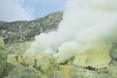Vulcano - Kawah Ijen - East Java Fotografia Stock