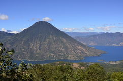 Vulcano Landscape in Guatemala Lake Atitlan Stock Photos