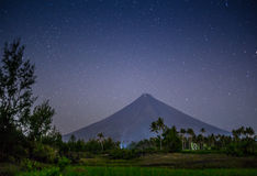 Vulcano Mount Mayon in the Philippines Royalty Free Stock Photo