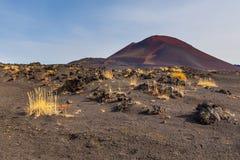 Vulcano non specificato e estinto sul Kamchatka, Russia fotografia stock libera da diritti
