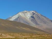 Vulcano Ollaque, Altiplano, Bolivia Fotografia Stock Libera da Diritti