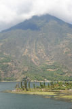 Vulcano San Pedro on the lake of Atitlan Stock Photo