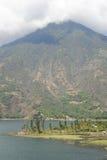 Vulcano San Pedro on the lake of Atitlan Stock Photo