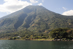 Vulcano of San Pedro on lake Atitlan Royalty Free Stock Image
