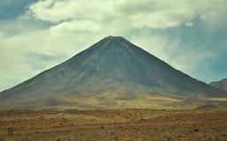 Vulcano simmetrico Fotografia Stock Libera da Diritti