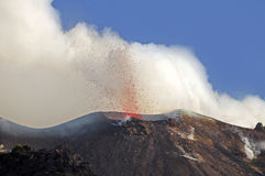 Vulcano Stromboli. fotografie stock