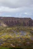 Vulcano su Isla de Pascua Rapa Nui pasqua Fotografia Stock