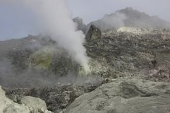 Vulcano. Sumatra, Indonesia Royalty Free Stock Photo