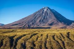 Vulcano surpreendente no deserto de Atacama, o Chile foto de stock royalty free