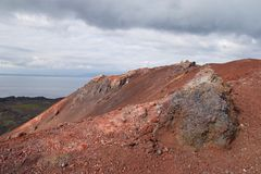 Vulcano a Vestmannaeyjar Fotografia Stock Libera da Diritti