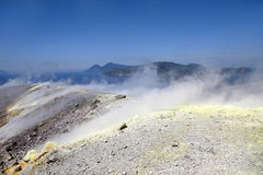 Vulcano volcano crater Royalty Free Stock Image
