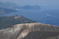 Vulcano wyspa, Lipari, Włochy Fotografia Stock