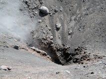 Vulcano zet Etna, Italië op Stock Foto's