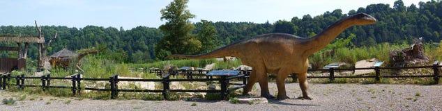 Vulcanodon, Baltow, Poland. Life-sized model of Vulcanodon at JuraPark Baltow, Baltow, Poland Stock Photos