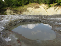 Vulcanoes de boue Photographie stock