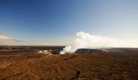 Vulcão de Kilauea no console grande Havaí Fotografia de Stock Royalty Free