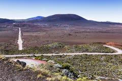 Vulcão de Pitão de la Fournaise, Reunion Island, França Foto de Stock