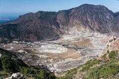Vulcão em Grécia Fotografia de Stock