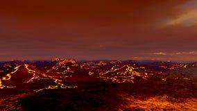 vulkaan Royalty-vrije Stock Afbeeldingen
