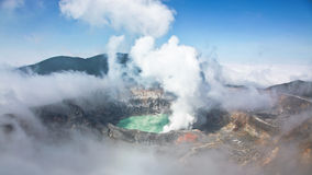 Vulkaan in Costa Rica stock foto's