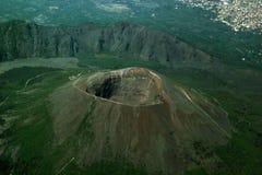 Vulkaan de Vesuvius Stock Afbeelding