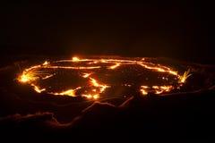 Vulkaan in Ethiopië Stock Afbeelding