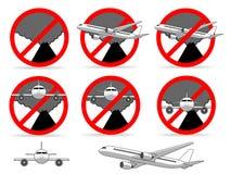 Vulkaan geen vliegstreek vector illustratie