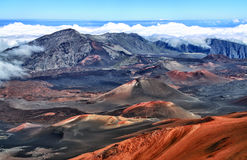 Vulkaan Haleakala, Hawaï (Maui) Royalty-vrije Stock Foto's