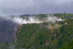 Vulkaan in Hawaï stock afbeelding