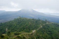 Vulkaan in het eiland van Bali Stock Foto's