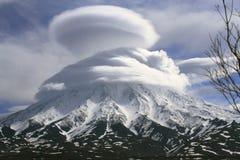 Vulkaan in houve Stock Foto's
