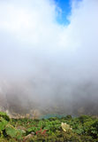 Vulkaan Irazu met zuur meer stock afbeelding